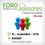 El 21º Foro Asesores Wolters Kluwer llegará a Madrid el próximo 15 de noviembre