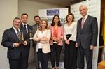 KPMG, la directora de Finanzas y Control de Telefónica Laura Abasolo, y el académico Juan Jesús Bernal, ganadores de los...